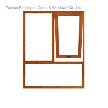 Cubierta de polvo doble acristalamiento insonorizado ventanas de aluminio insonorizadas (FT-W70)