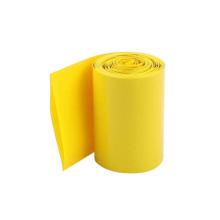 Tubulação amarela feita sob encomenda do psiquiatra do calor do PVC das cores para a pilha 18650