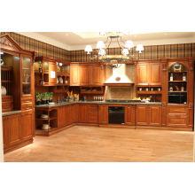 Muebles de cocina Mueble de cocina de madera maciza de lujo
