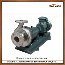 Horizontal corrosion resistant stainless steel liquid pump