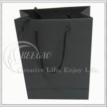 Schwarze Papiertüte (KG-PB033)