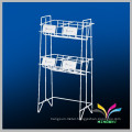 4 levels sturdy balck flooring detachable iron retail display stands racks
