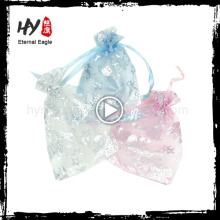 Eco-friendly organza perfume bottle pouch for wholesales