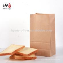 atacado logotipo personalizado pão saco de embalagem de papel de cozimento