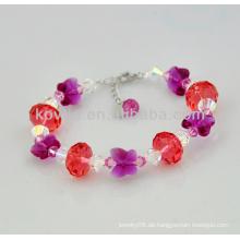 Mädchen charmante Weihnachtsgeschenk Kristall Perlen Armbänder