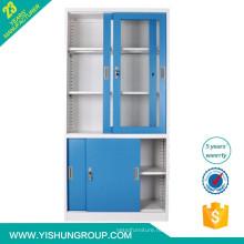 металлический шкаф с раздвижной дверью и ржали