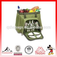 La bolsa de asas más grande aislada Picnic refrigerador de la comida campestre más grande con los compartimientos separados