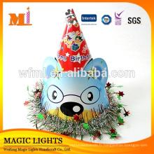 Fournitures et décoration imprimées différentes de chapeau de fête d'anniversaire d'animal