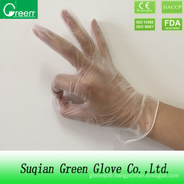 Clear Disposable Examination Vinyl Gloves