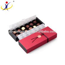 Caja de empaquetado de papel de chocolate modificada para requisitos particulares la mejor opción con la tapa
