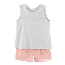 100% Cotton Kids Girls T-Shirt för sommaren