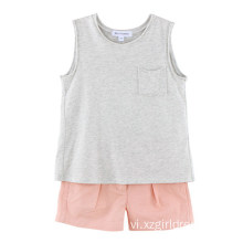 100% Cotton Kids Girls T-Shirt cho mùa hè