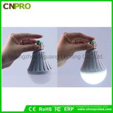 Ampoule à LED intelligente de secours de puissance de l'eau de 9W LED