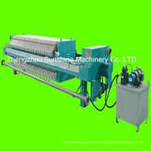 Filtro de placa y marco Prensa Máquina de filtro de aceite de coco
