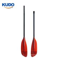 2019 Fashionable and beautiful appearance more power Aluminum shaft Fiberglass blade kayak paddle