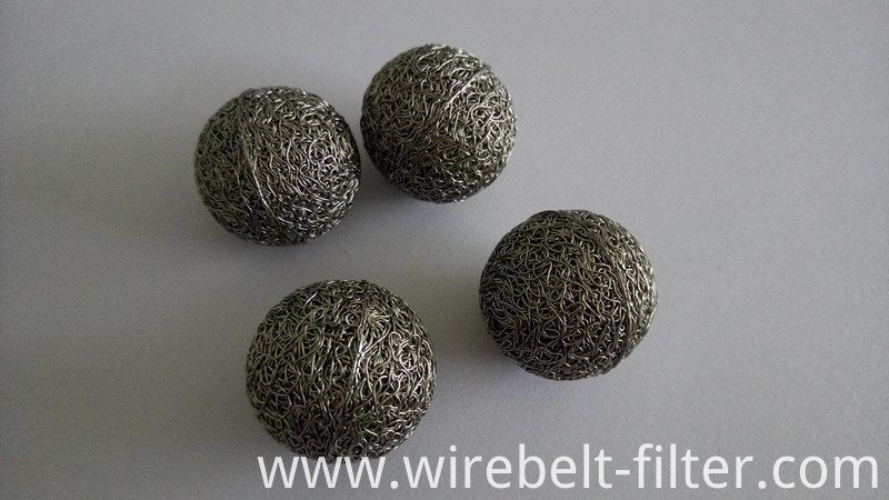 compressed filter ball