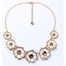Élégant Noble dame fleur collier Bijoux