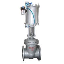 venta caliente POV válvula de compuerta neumática de titanio de acero inoxidable