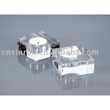 FC12W crystal candle holder