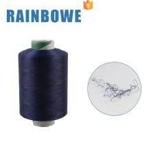 Hilo de poliester del hilado de filamento cubierto aire convencional colorido de la venta caliente