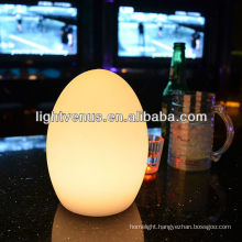 Color change LED hotel table lamp