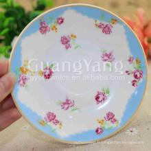 Plaques de dîner de conception de poisson émaillé de porcelaine de nouvel an