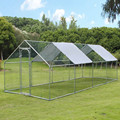 Chicken Run Galvanized para uso al aire libre