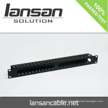 1U Gestion des câbles avec 24 ports / 48 ports Accessoires de câblage réseau