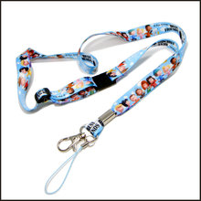Cute Sublimation Logo Polyester Lanyard for Children Gift