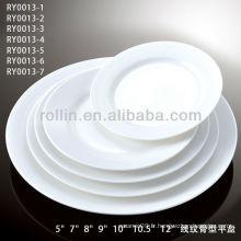 Plaques en gros de porcelaine pour banquets hôteliers