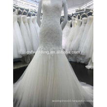 Latest Dress Design Mermaid Tulle Skirt Bridal Gowns Sleeveless Open Back Lace Alibaba China Wedding Dresses 2015 15017-4