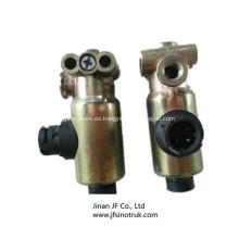 DZ9100716009 Válvula solenoide Shacman repuestos para camiones volquete