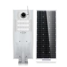 Réverbère solaire intégré 30W40w50w60w80w100w120w150w180w avec caméra CCTV WIFI IP tout en une lumière solaire