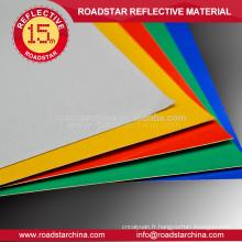 6 feuilles de bannière/reflective réfléchissants disponibles de couleur