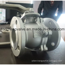 API Stainless Steel CF8 / CF8m / Wcb Flanged Ball Valve