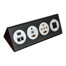 Multimedia Wall Plate Hotel Socket ,  GB Power Plugs AV Con