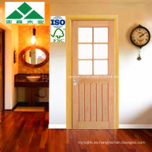 Plank / Cheshire Top Glass / Puerta de roble blanco esmaltado