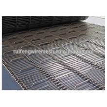 Courroie transporteuse à mailles métalliques résistant à la chaleur