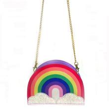 2020 Fashion Rainbow Children Chain Shoulder Bag Girls Kids Messenger Crossbody Coin Bag
