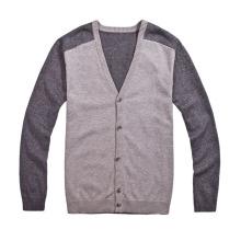 Chaqueta de punto personalizada del suéter del Knit del V-Cuello con el botón