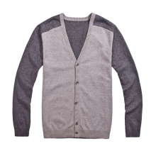 Custom V-Neck Knit Sweater Cardigan with Button