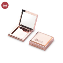 Hot Sale OEM Rose Gold Foundation Powder Packaging Case Luxury Square Face Powder Case