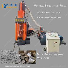 Machine hydraulique de briquetage de ferraille en aluminium