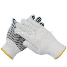 Gant protecteur de travail en pointillé à un côté en PVC