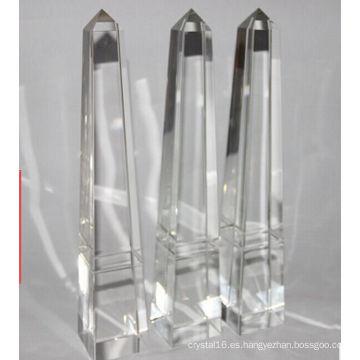 Custom Glass Pyramid Crystal Trophy Free Grabado
