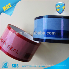 tamper proof tape with serial number and proforation line from ZOLO