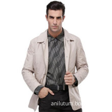 Anilutum Brand New Style Fashion Long Sleeved Camel Color Men's Jacket- No.R121243