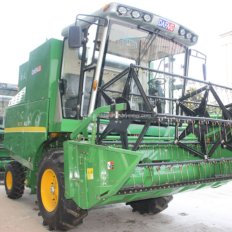 Fuel-efficient single cylinder rice/wheat combine harvester