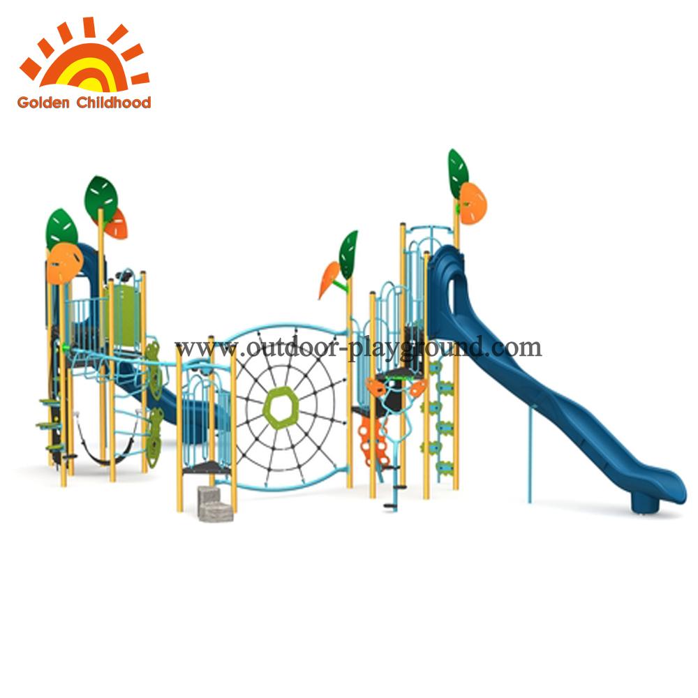 green climb net outdoor playground