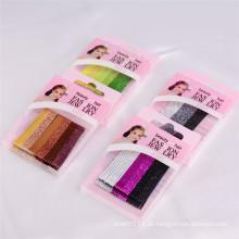 Kindermode Glittery bunte Box verpackt Metall Haarnadeln (JE1002)